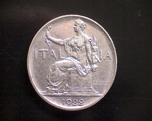 1922 R  ITALY  ONE LIRA