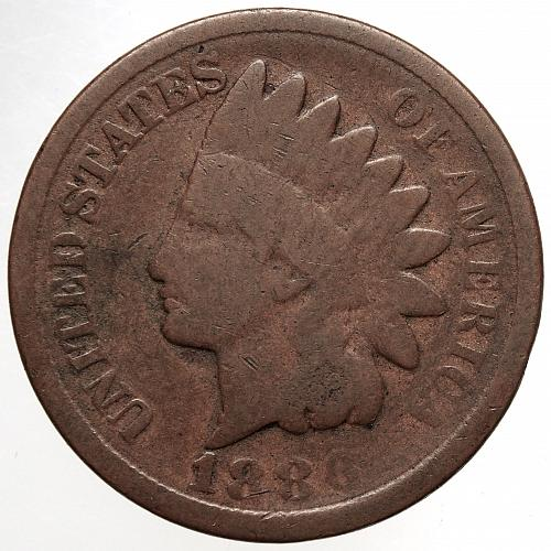 1886 Indian Head Cent #28 Type 2