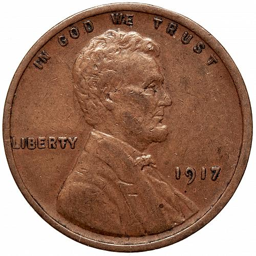 1917 P Lincoln Wheat Cent#4