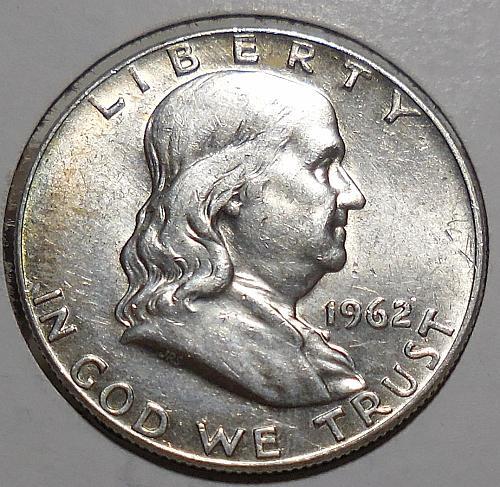 Franklin Half Dollar 1962-D
