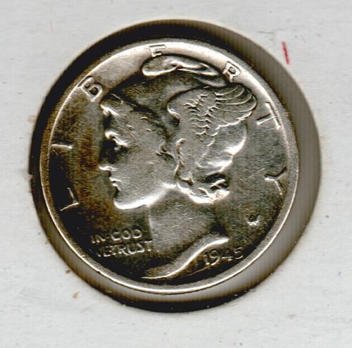 1945 D Mercury Dimes #2