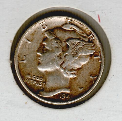 1941 Mercury Dime - #5
