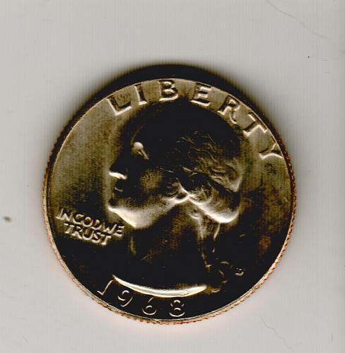 1968 D UNC Washington Quarters - #4