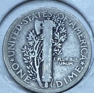 1921-P Fine Mercury Dime   ( 2975 )