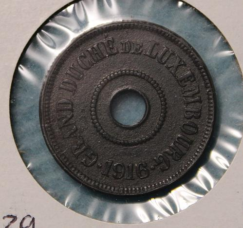 Luxembourg 1916 25 centimes