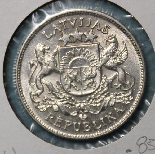 Latvia 1925 2 Lati