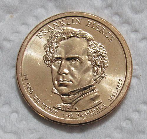 2010-D $1 Franklin Pierce Presidential Dollar