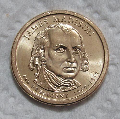 2007-P $1 James Madison Presidential Dollar