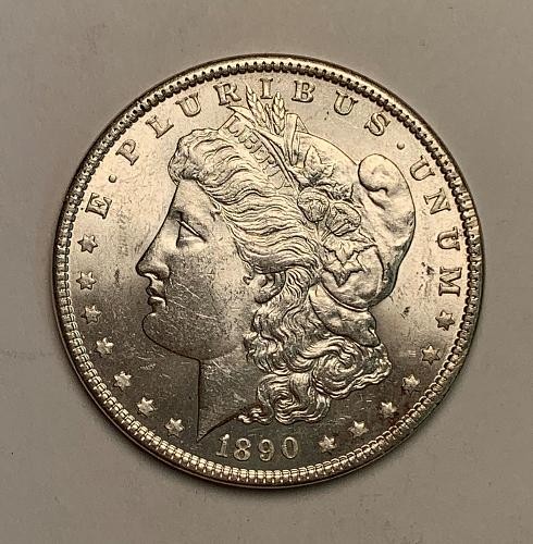 1890 Morgan Silver Dollar BU [MDL 70]