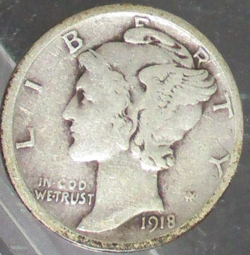 1918 P Mercury Dime  N E W   P R I C E   1-29-2020