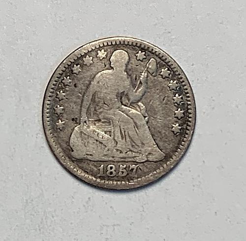 1857 Half Dime G [SHD 5]