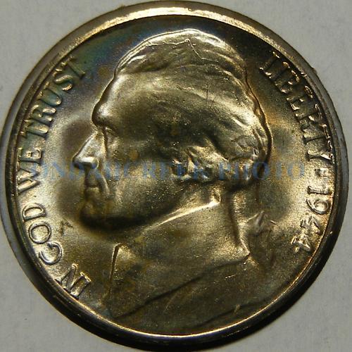 1944-S Jefferson Nickel RPM # 1 Pretty Toned