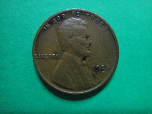 1926-S Lincoln Cent Very Good-8 Net Grade . . .