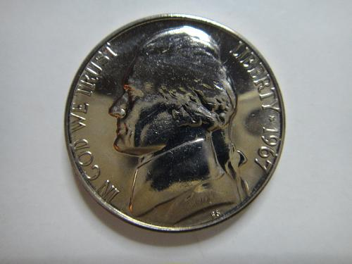 1967 SMS Jefferson Nickel MS-65 (GEM) 2 Steps Strong Strike