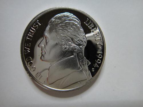 1994-S Jefferson Nickel Proof-65 (GEM) Full Steps=6 SHARP STRIKE