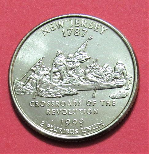 1999-P 25 Cents - New Jersey State Quarter