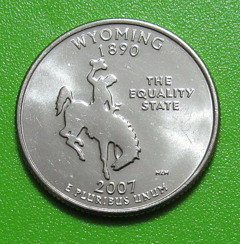 2007-D 25 Cents - Wyoming State Quarter