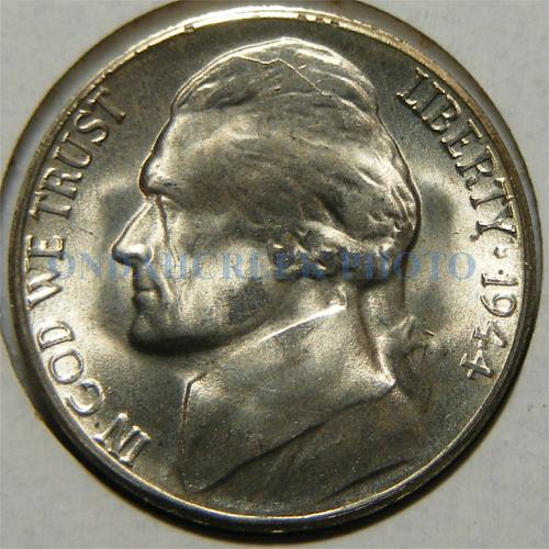 1944-S Jefferson Nickel Doubled Die Reverse CH BU
