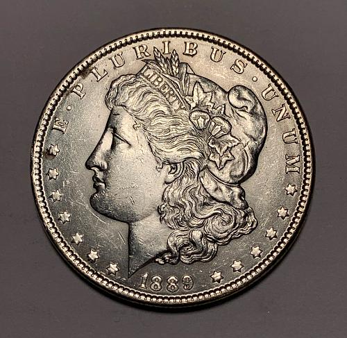 1889 Morgan Silver Dollar AU55 [MDL 109]