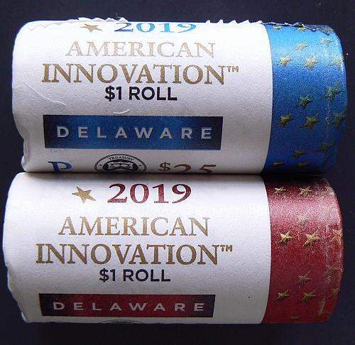 2019 P&D American Innovation (DE) Mint Rolls