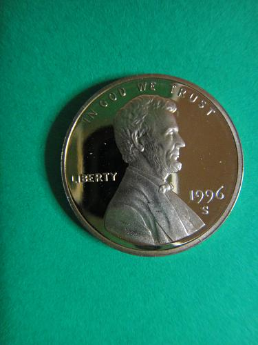 1996-S Lincoln Cent Proof-66 (GEM+) RED