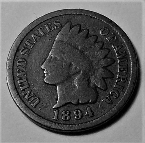 BETTER DATE 1894 INDIAN HEAD CENT
