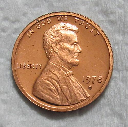 1978-S 1 Cent Lincoln Memorial Cent - Cameo Proof
