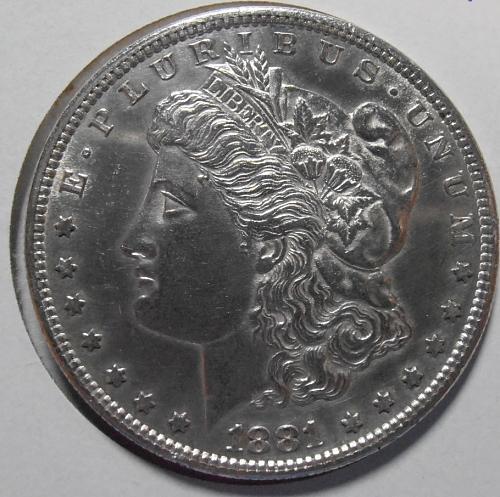 1881 S BU Morgan Silver Dollar -  (81S71)