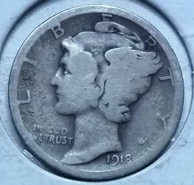 1918-S GOOD Mercury Dime   ( 175K )