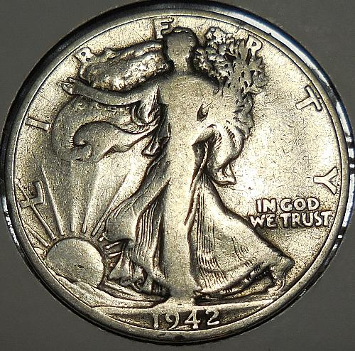 Walking Liberty Half Dollar 1942-S