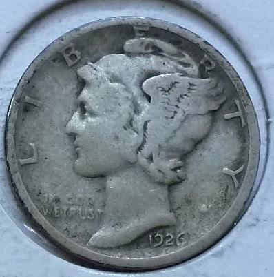 1926-D VERY GOOD Mercury Dime   ( 461 )