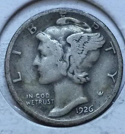 1926-S FINE Mercury Dime   (G175 )