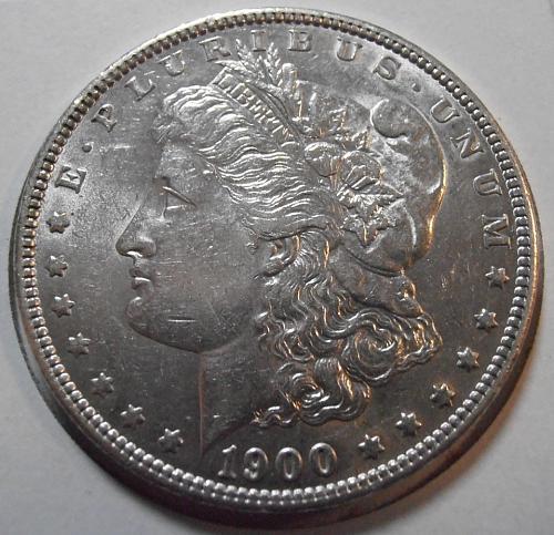 1900 P AU Morgan Silver Dollar -  (00PKX)