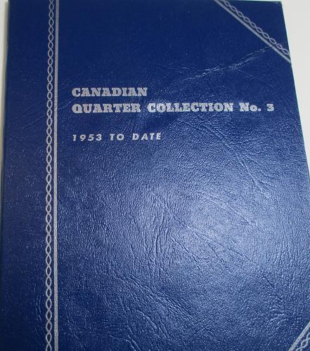 CANADIAN QUARTER FOLDER 1953 TO DATE