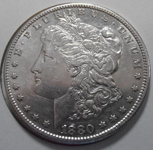 1880 S Morgan Silver Dollar (80SPKE)