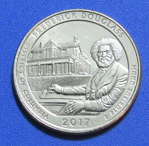 2017-P 25 Cents - Frederick Douglass District of Columbia National Park America