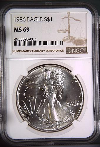 1986 American Silver Eagle $1 (1st Year)