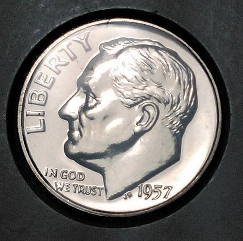 1957 PROOF ROOSEVELT SILVER DIME