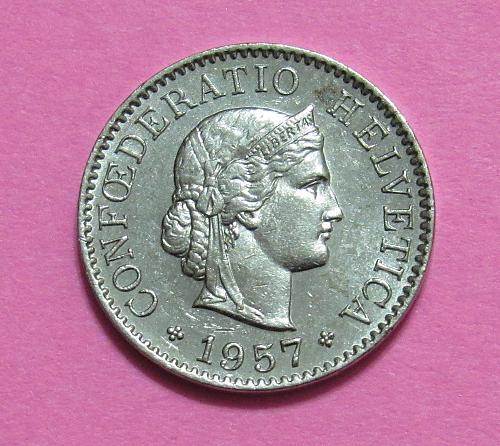 1957 Switzerland 5 Rappen