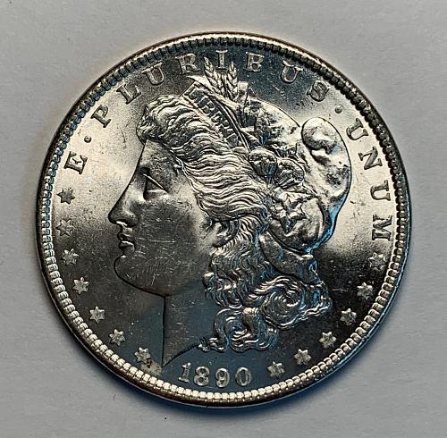 1890 Morgan Silver Dollar BU [MDL 83]