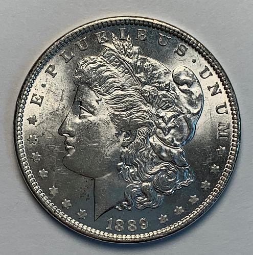1889 Morgan Silver Dollar AU [MDL 84]