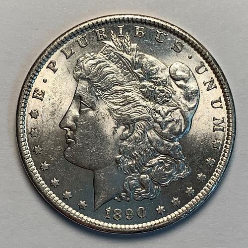 1890 Morgan Silver Dollar AU58 [MDL 88]