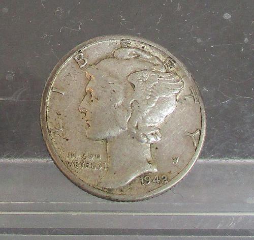 1942 D Mercury Dime   #2
