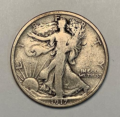 1917-S Rev. Walking Liberty Half Dollar VG [WL 55]