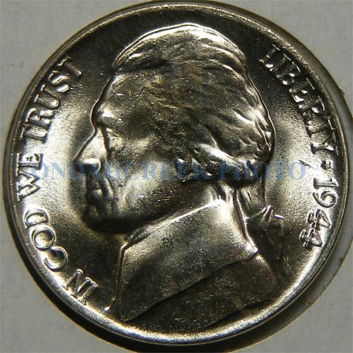 1944 Jefferson Nickel Reverse Die Crack Errors Choice BU Silver