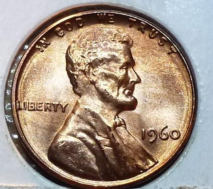 1960 P Small Date Lincoln Cent in BU ( 172 )