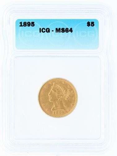 1895 Half Eagle ICG MS64 $5
