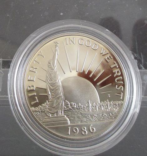 1986-S COMMEMORATIVE HALF DOLLAR, STATUE OF LIBERTY, REV. IMMIGRANTS
