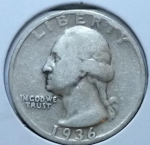 1936-P VERY FINE Washington Quarter VF # (105C)