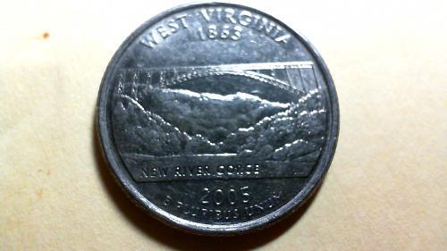 2005 D West Virginia 50 States and Territories Quarters